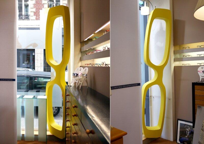 lunettes géantes décoration vitrine opticien