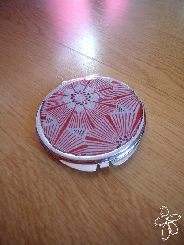 miroir de poche tissu résine