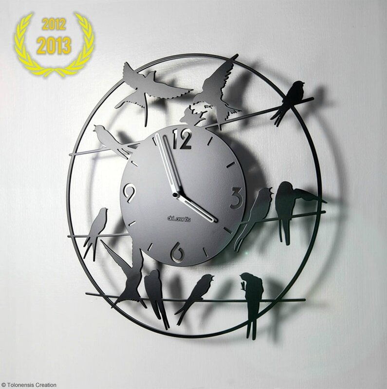 best seller horloge oiseaux birdy rex temporis horloges murales delorentis. Black Bedroom Furniture Sets. Home Design Ideas