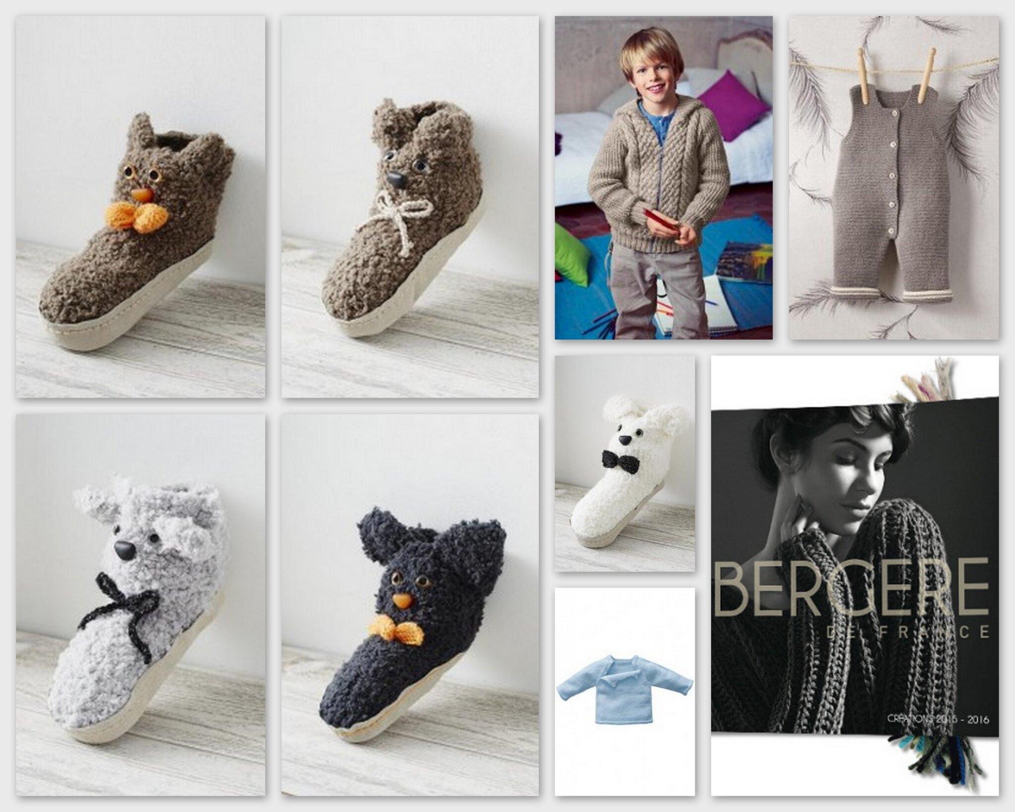 modèles bergère de france chaussons enfant bébé 2015 2016