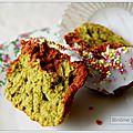 Muffins au thé matcha et au chocolat