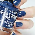 Central denim, maybelline tenue & strong