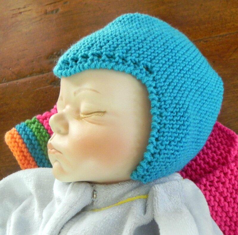 tricoter un bonnet 1er age
