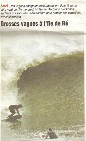 surf ile de ré fevrier 2011