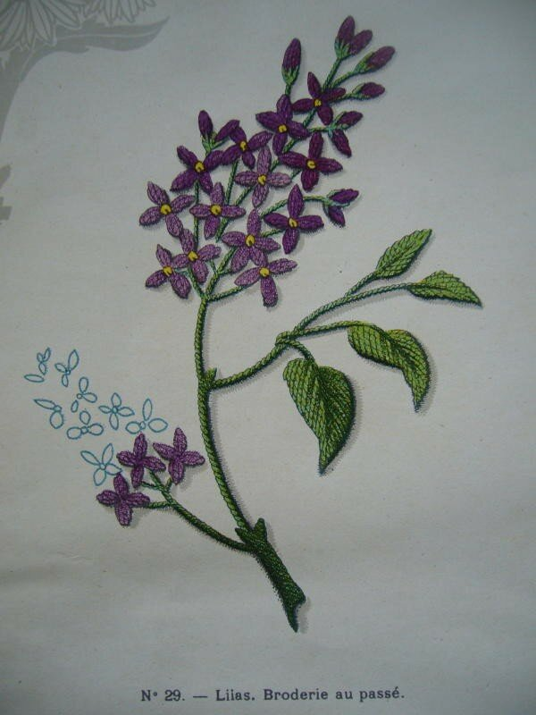 Lilas broderie au pass photo de le guide de la for Salon de la broderie