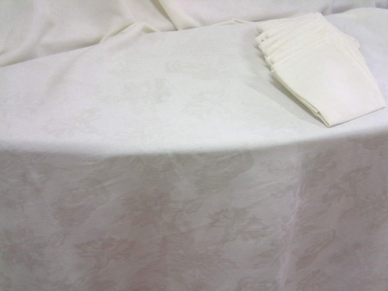 Nappe et serviettes de table d co l 39 ancienne lins - Ensemble nappe et serviette de table ...