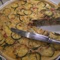 Quiche courgettes/tomates