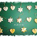 Pendouilles coeurs et étoiles