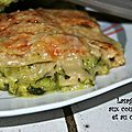 Lasagnes aux courgettes et au chèvre