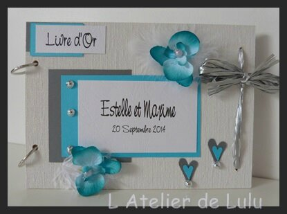 livre d'or orchidees turquoises