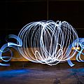 Lightpainting : carosse de cendrillon