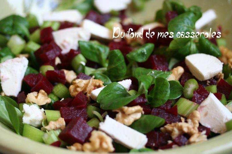 salade betterave mache