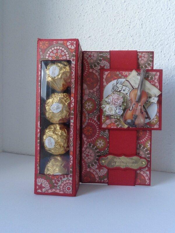 "Carte Ferrero Rocher ""rouge"""