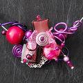 collier tour de cou cassis violet et prune pour cliente romaflor