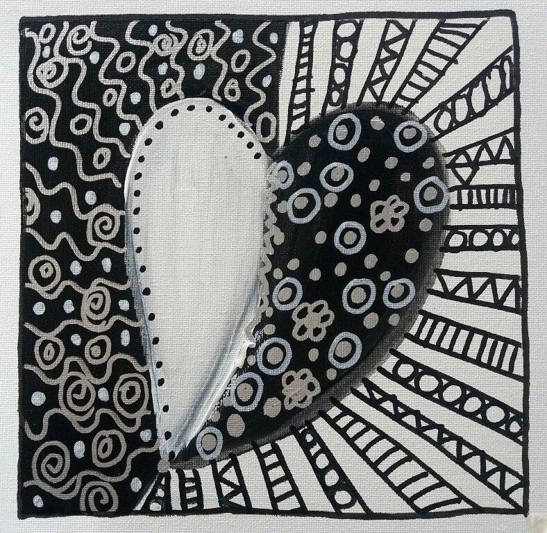 277_Noir et Blanc_Coeurs en noir et blanc (2)