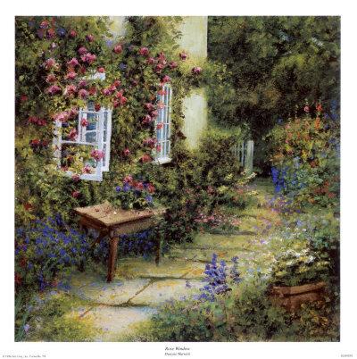 DLW0039_Fenetre_entouree_de_roses_Affiches