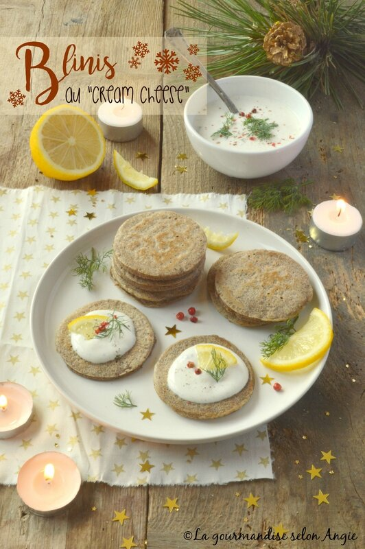 blinis - cream cheese au citron vegan