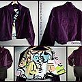 Couture: manteau burda 7314 et peinture textile