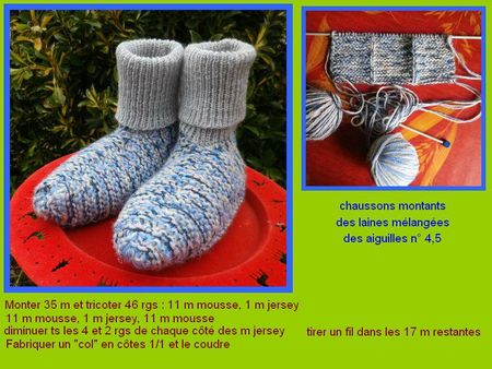 chaussons a col