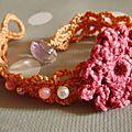 Bracelet crochet et perles
