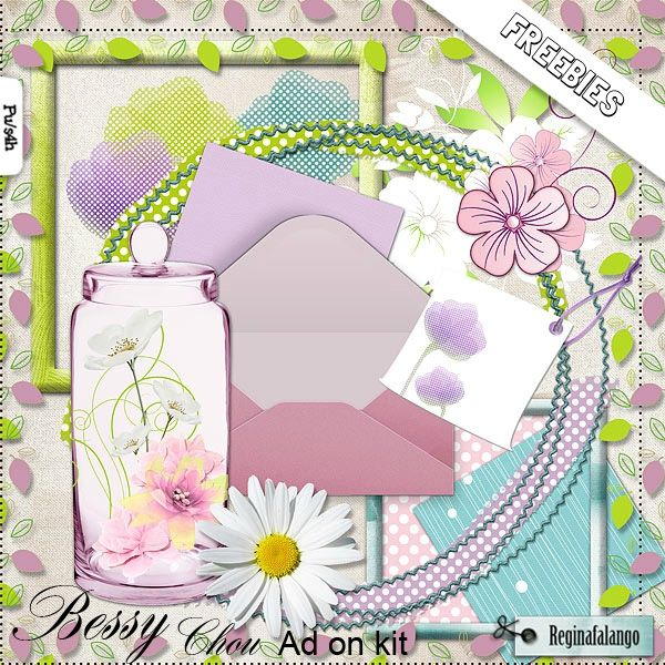 "Free scrapbook kit ""Bessy Chou"" from Regina Falango"