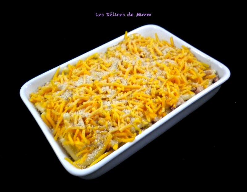 Mac and cheese aux lardons