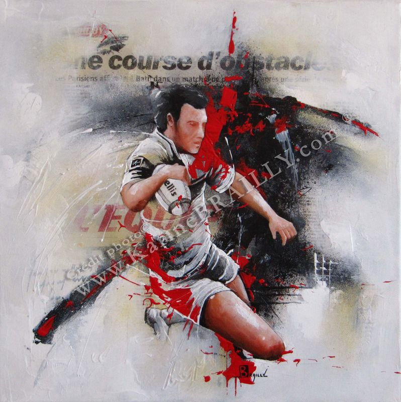 RUGBY : petits formats sur toile - karine BRAILLY (www.karinebrailly.com)...Artiste peintre ...