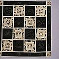 Notre 1er cours de patchwork, sashiko et réversibilté, une réussite.