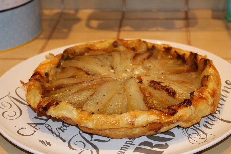 tarte tatin endives bacon chèvre