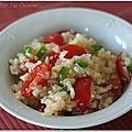 Salade de riz au crabe et au chutney de mangue
