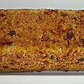 Cake aux lentilles corail, carottes, raisins secs
