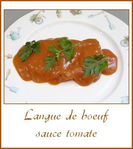 Langue de boeuf sauce tomate