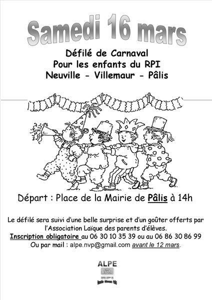 Carnaval 2013 Affiche