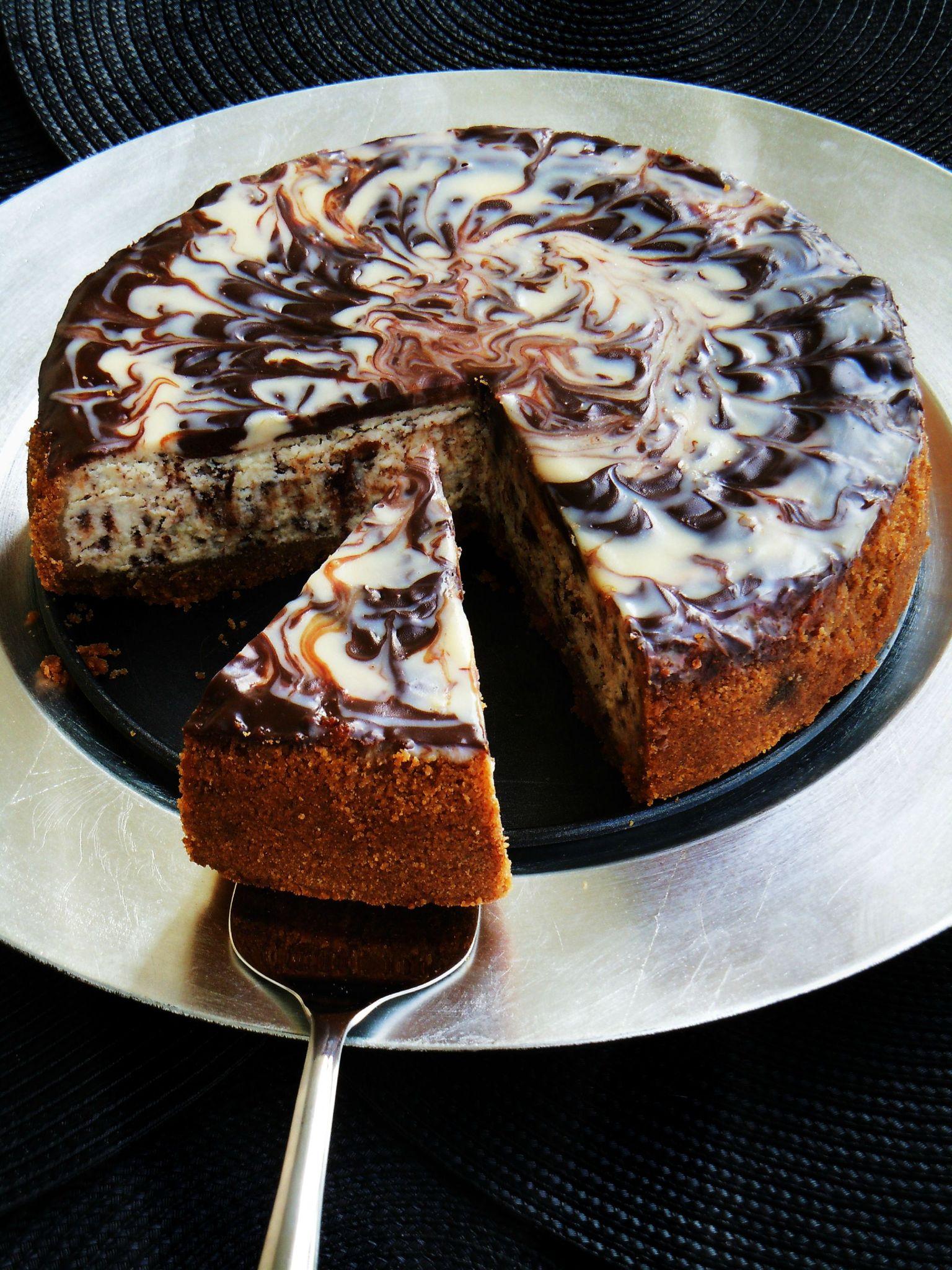Gateau au chocolat blanc et noir marmiton