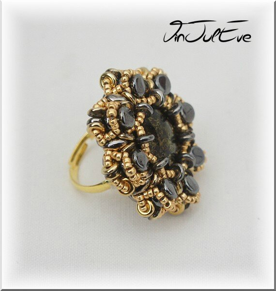 Bague Otavie noir or 1
