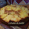 Gâteau chocoblanc à l'ananas