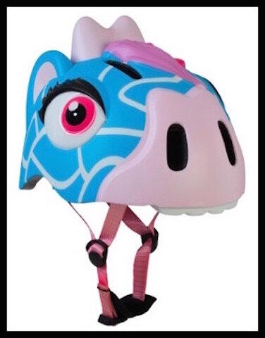le cyclo casque enfant girafe bleue