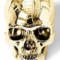 Hervé Lewis, Golden Skull. Photo Cornette de Saint Cyr Bruxelles