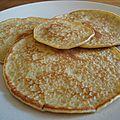 Pancakes sans gluten sans caséine