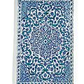 A large blue and white iznik tile, turkey, late 16th century