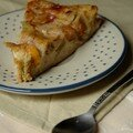 Le temps des mirabelles (1) : clafoutis rhubarbe-mirabelles, sans bl, sans lait