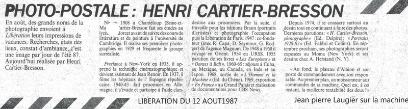 Cartier-Bresson Libé
