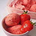 Sorbet fraises - framboises
