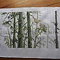 Les bambous et les tableautins de noël