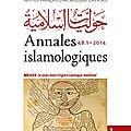 Le corps dans l'espace islamique médiéval
