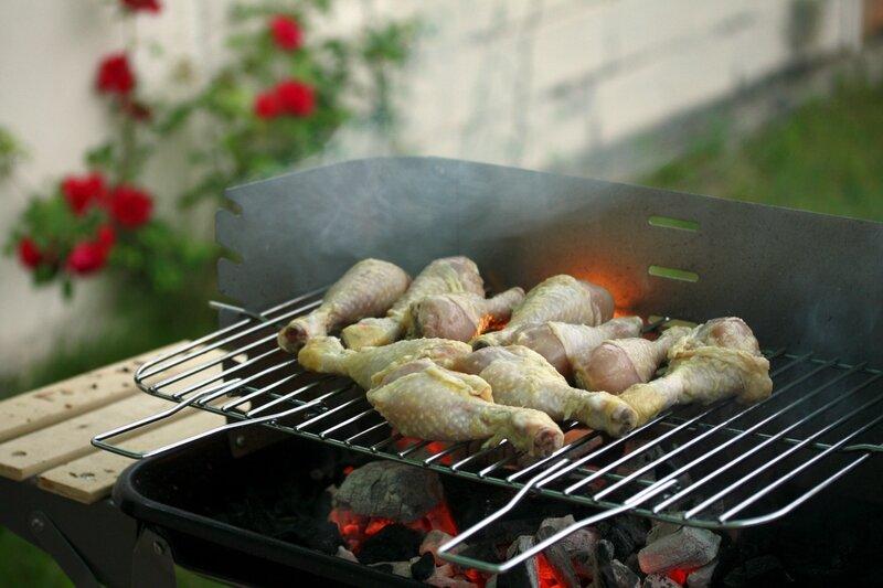 pilons de poulet à l'ail et au citron au barbecue blog chez Requia-001