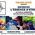 Exposition théâtre aleph -ivry sur seine - 21 juin au 12 juillet 2015