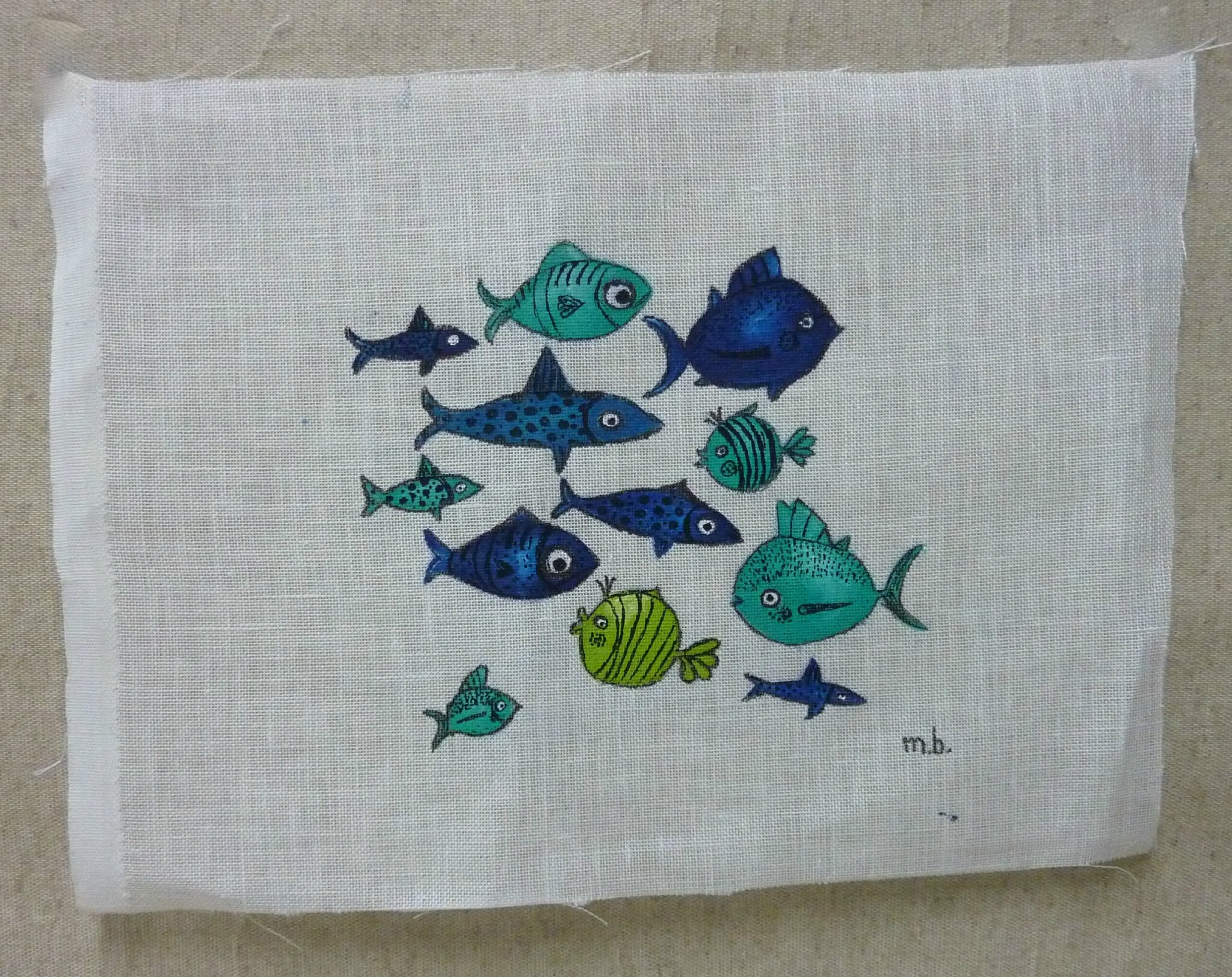 Martine poissons florence melocco cours de peintures for Peintures decoratives