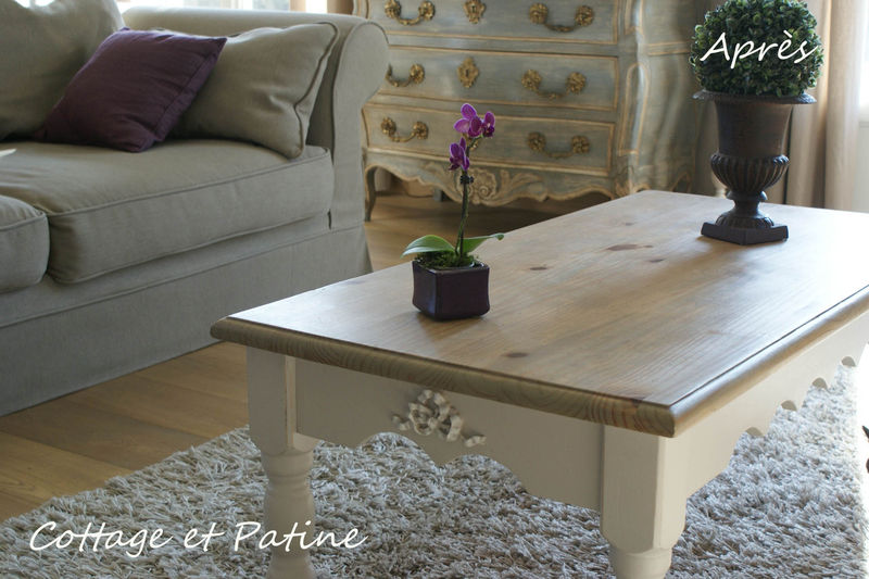 Table basse ensemble jpeg photo de les meubles relook s for Peindre une table basse
