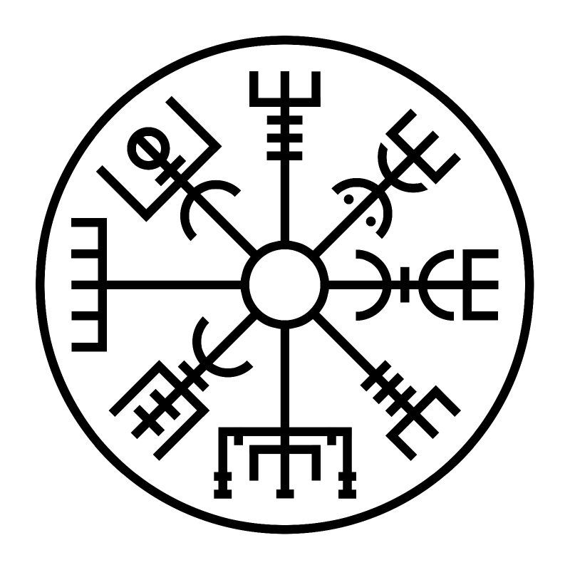 Borromean Triangles - A Viking Symbol VEGVISIR  Viking Symbol For Invincibility